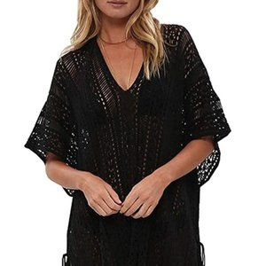 shermie Swimsuit Cover ups for Women V-Neck Plus S